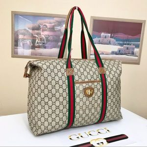 GUCCI GG PATTERN SHERRY LINE SHOPPERS/WEEKEND BAG 💼